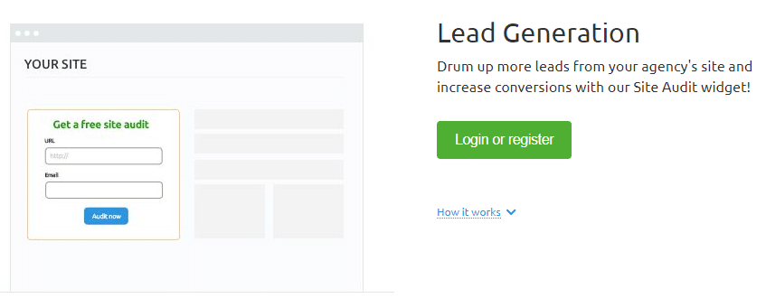 semrush Lead Generation